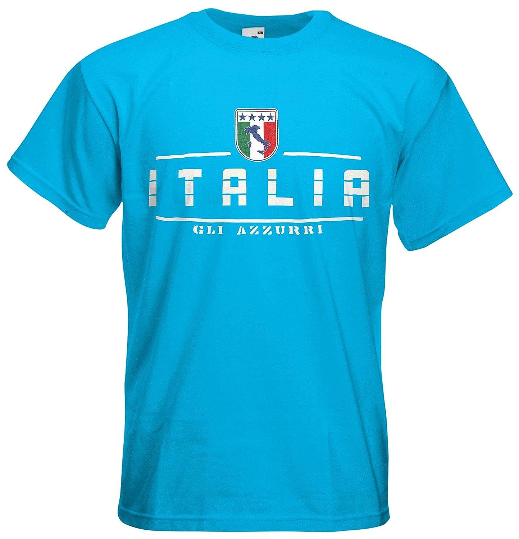 Italien Italia Fanshirt T-Shirt Länder-Shirt im modernen Look: Amazon.de:  Bekleidung