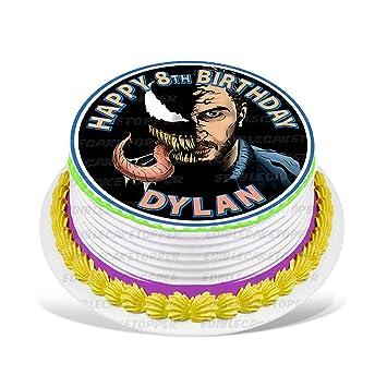Venom - Decoración para tarta comestible personalizada para ...