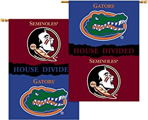 NCAA Florida State Seminoles / Florida Gators 2-Sided 28 x 40-Inch House Divided Banner with Pole Sleeve