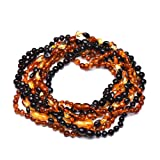 9 Amber Teething Necklaces - 3x3 Different