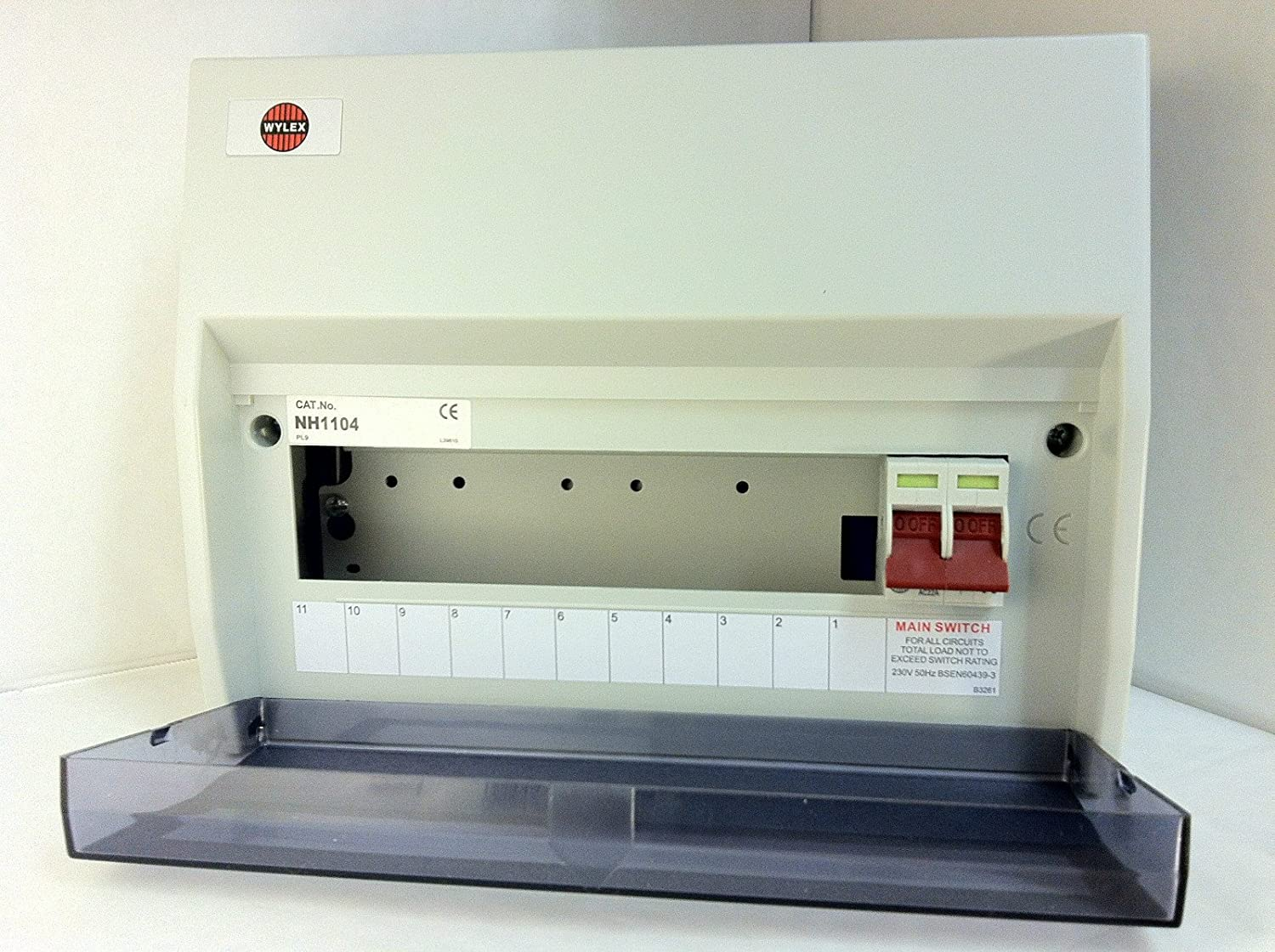 Wylex NH1104 - 11 Way Consumer Unit with 100A Main Switch Incomer -  Insulated: Amazon.co.uk: Lighting