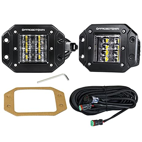 81O3QGUOhyL._SY463_ amazon com led work light flush mount,offroad town 2 pcs 12v 48w  at aneh.co