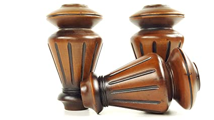 Knightsbrandnu2u 4x Antique Finished Wooden Feet Replacement