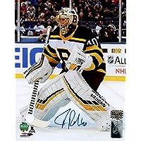 Tuukka Rask Boston Bruins Signed Autographed 2019 Winter Classic Protect V… photo