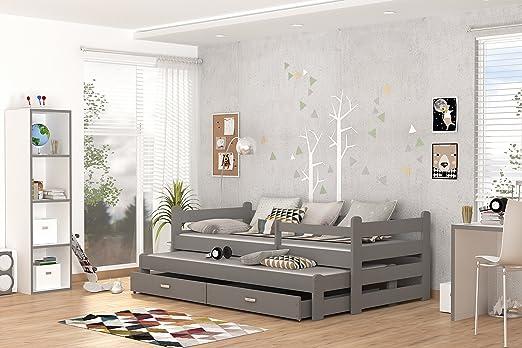 Etagenbett Grau : Etagenbett hochbett mk mit schubkastentreppe weiß grau ehb m