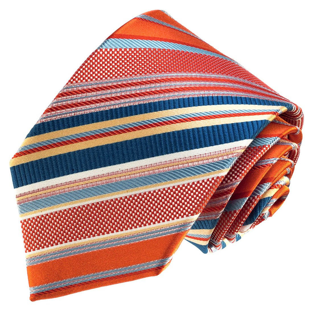 LORENZO CANA - Corbata - Rayas - para hombre multicolor Salmón ...