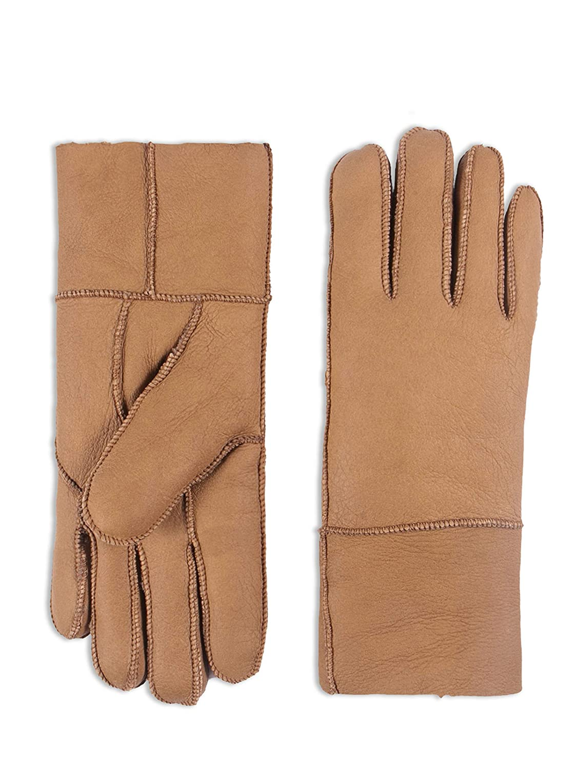 YISEVEN Women's Rugged Sheepskin Shearling Leather Gloves Charm Leather Fashion Company
