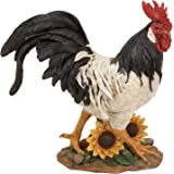 Deco 79 69750 Polystone Decorative Rooster Statue, 13 by 14-Inch