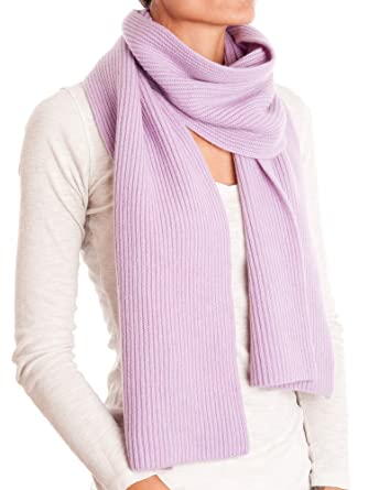 ec7f96bb959ae2 Dalle Piane Cashmere - Ribbed Scarf 100% cashmere - Woman/Man, Color:  Lilac, One size: Amazon.co.uk: Clothing