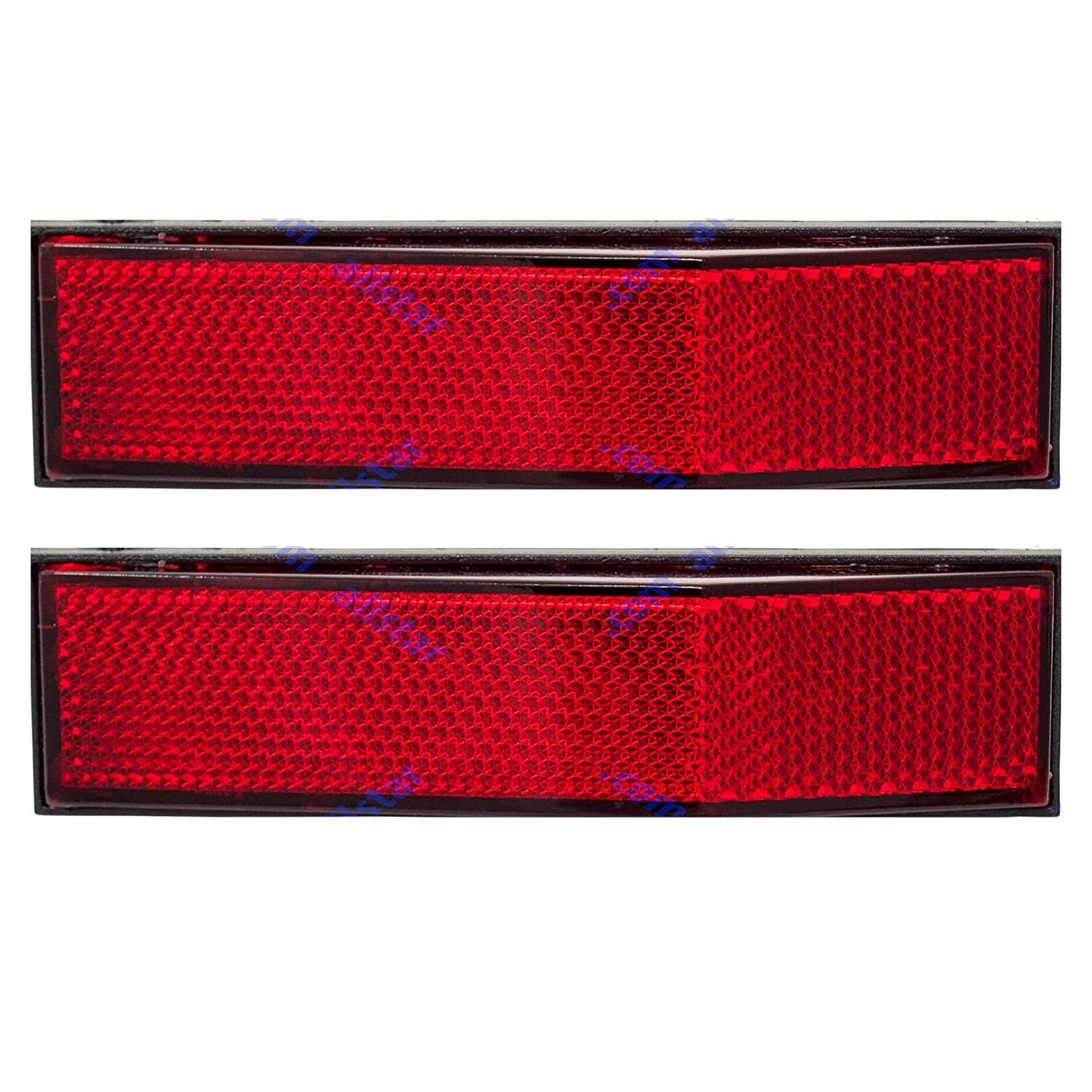 Automobiles ALL STAR TRUCK PARTS Trucks RVs Red, 2 5-1//4 Angled Rectangular Stick On Reflector- 2 Pack for Trailers Industrial Strong Adhesive DOT//SAE Approved Mail Boxes SUVs Boats