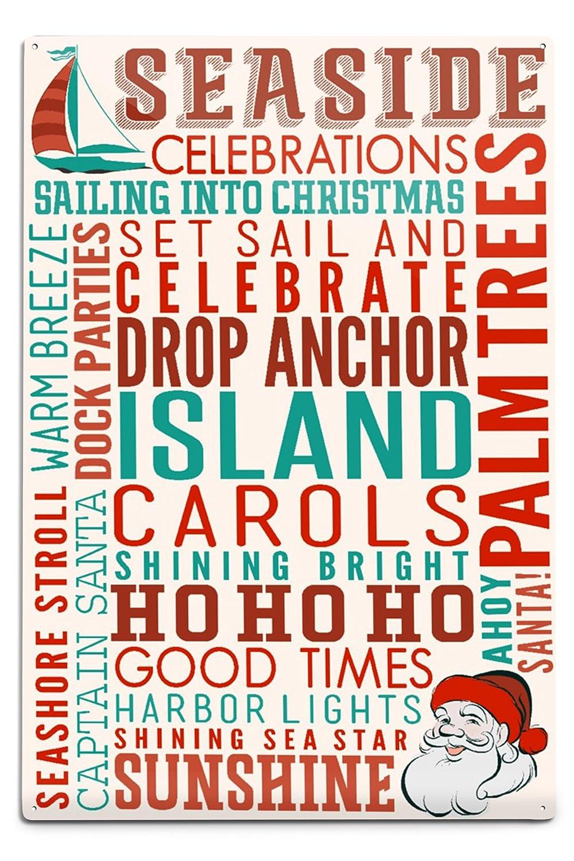 Seaside、カリフォルニア – クリスマスTypography 12 24 Sign LANT-55659-24x36 x 36 Giclee Print LANT-55659-24x36 B06Y17XZJ6 12 x 18 Metal Sign 12 x 18 Metal Sign, キッズハウス もりもと:bebcd242 --- rdtrivselbridge.se