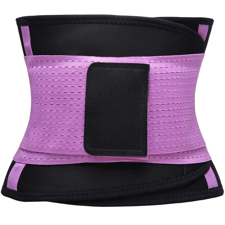KOOCHY Women's Waist Trainer Belt - Waist Cincher Trimmer - Slimming Body Shaper Belt - Sport Girdle Belt for Weight Loss(Purple,Large) by KOOCHY (Image #4)