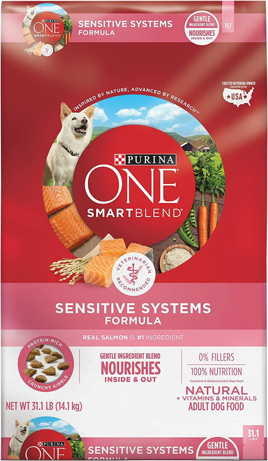 7. Purina ONE SmartBlend Sensitive Systems Adult Formula Dry Dog Food