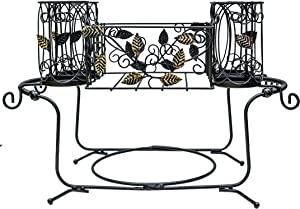 Maypes Utensil Caddy - Silverware Caddy or Napkin, Cutlery and Plate Holder - The Ideal 2-Piece Portable Outdoor Kitchen Accessories Buffet Organizer for Picnics, Camping, Barbecue, Parties and Events