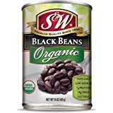 S & W - Organic Black Beans, 15 Ounce Can (Pack Of 12), Canned Beans