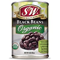 S&W - Organic Black Beans - 15 Oz. Can (Pack Of 8)