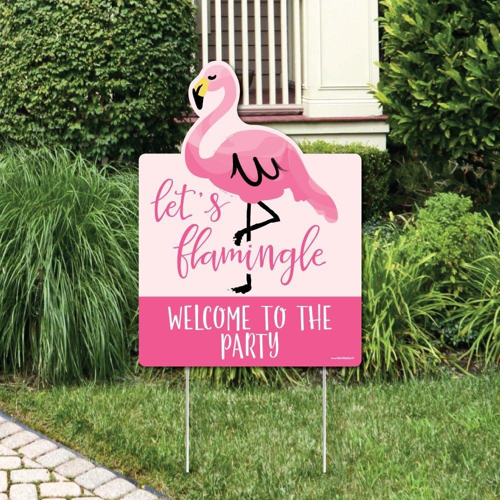 Amazon Com Big Dot Of Happiness Pink Flamingo Party Decorations