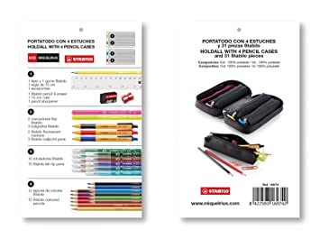 Amazon.com: Miquel Rius Miquelrius – Estuche 4 Pencil Case ...