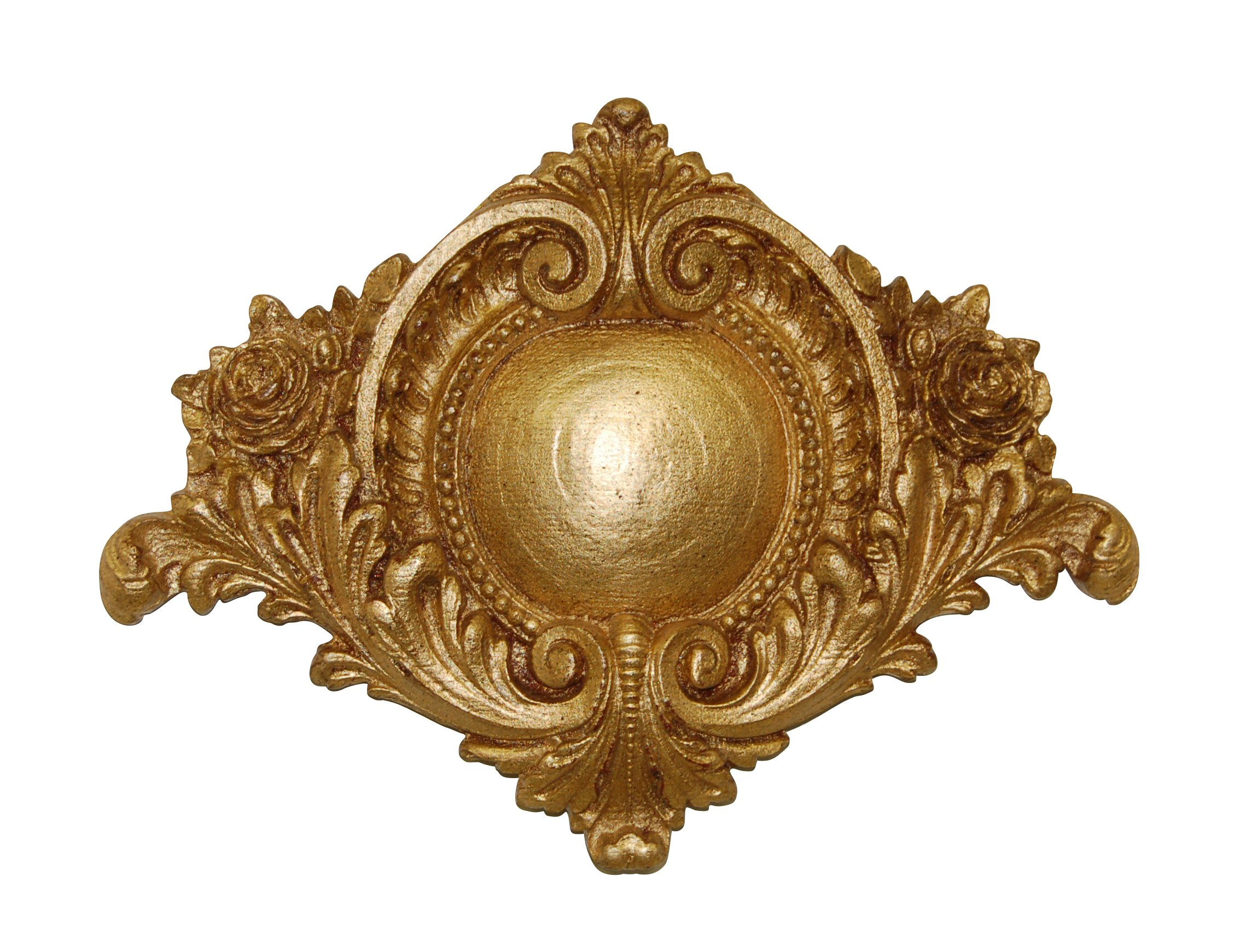 Hickory Manor House Centerpiece Medallion, Gold Leaf