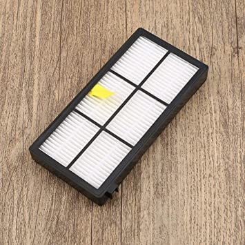 Reemplazo 3pcs Cepillo Lateral 3pcs Filtro HEPA 2pcs Cepillo rodante para Roomba Serie 800 aspiradoras aspiradoras Robot Partes (Color: Blanco y Amarillo) ...