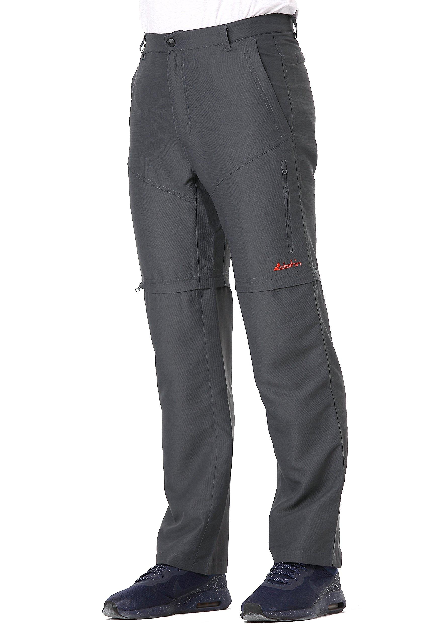 Men's Zip Off Pants Convertible to Shorts Lightweight Quick-Dry Water-Repellent