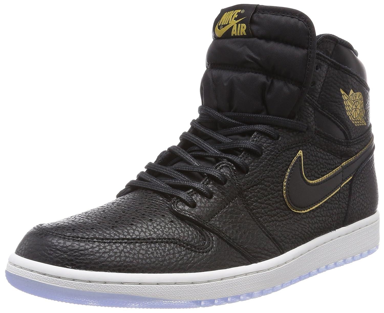 buy popular 38e4a 256aa Jordan Retro 1 High Basketball Men's Shoes Size 14 Black/Metallic Gold