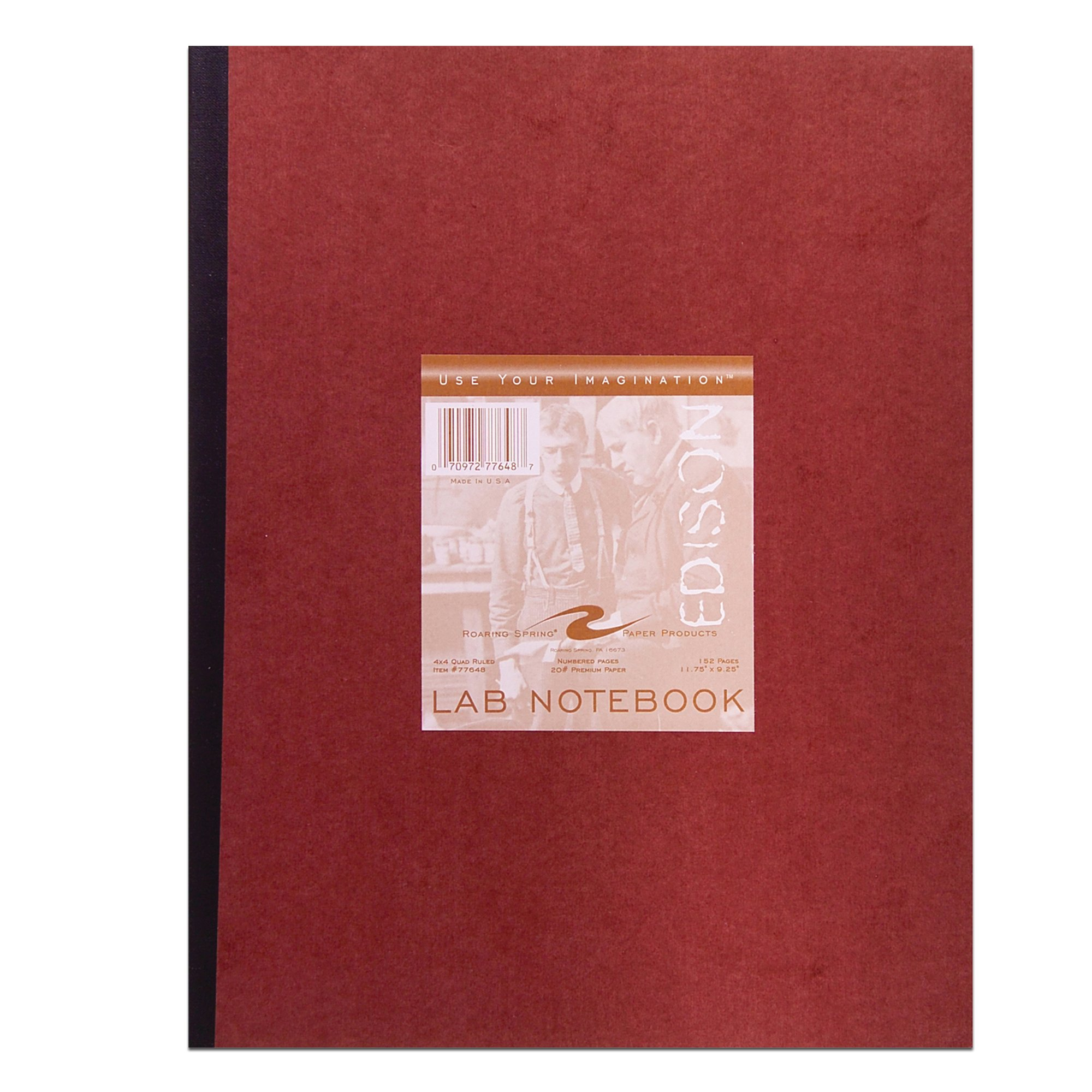 Roaring Spring Oversize Lab Book, 11 3/4'' x 9 1/4'', 76 sheets, Numbered by Roaring Spring Paper Products