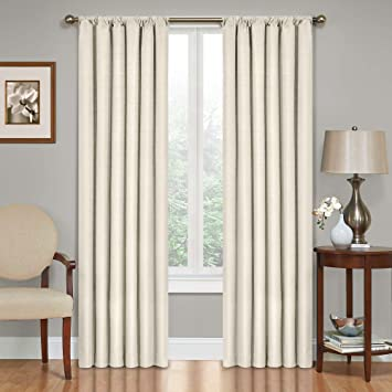 Amazon.com: Eclipse Kendall Blackout Thermal Curtain Panel,Ivory ...