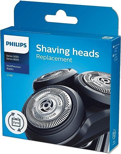 Philips 5000 SH50/50 - Cabezales de afeitadoras, color negro: Amazon.es: Salud y cuidado personal