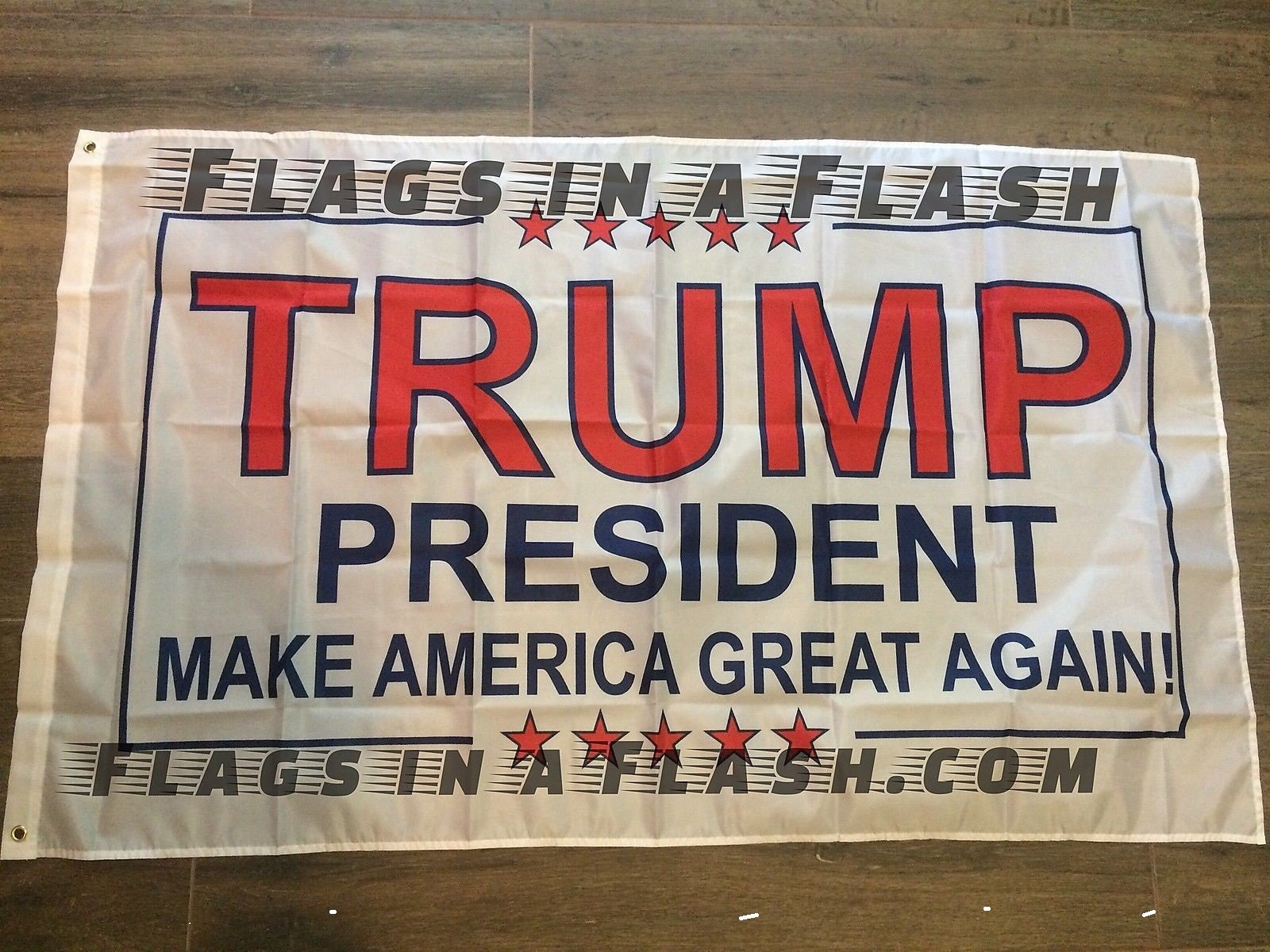 100 POLYESTER 3 'x5' , PRESIDENT TRUMP INAUGURATION FLAG FLAGS MAKE AMERICA GREAT AGAIN DONALD