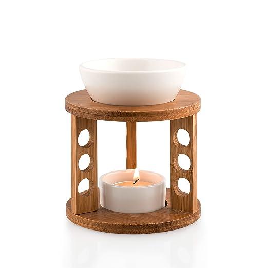 6 opinioni per Pajoma 13813.0- Lampada brucia-essenze in bambù e ceramica