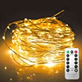 Amazon Price History for:JMEXSUSS 8 Modes Remote Control 100 LED 32.8ft Battery Operated Waterproof Dimmable Fairy String Copper Wire Lights for Christmas, Bedroom, Patio, Wedding, Party, Warm White