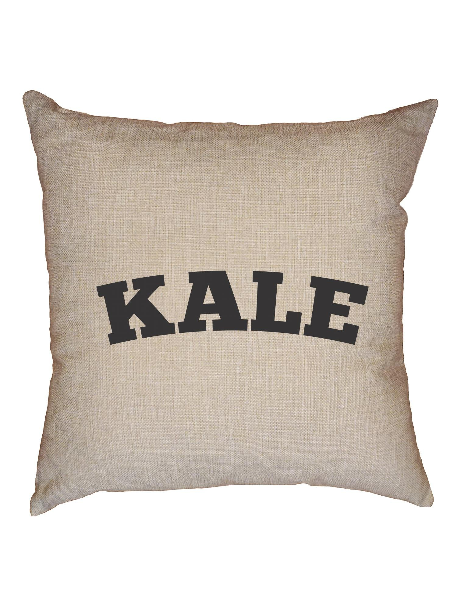 Hollywood Thread Hilarious Kale College Inspired Design Graphic Decorative Linen Throw Cushion Pillow Case with Insert