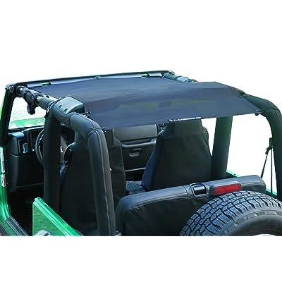 Alien Sunshade Jeep Wrangler Sunshade - Jeep TJ Sunshade (96-05) & Jeep YJ (87-95) Jeep Mesh Top (Black): Automotive [5Bkhe0914345]