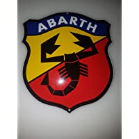 EMAILLE BBV Cartel (Classic Abarth Sign 14 x 16,5 cm