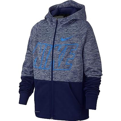 Nike Dri-Fit Therma – Chaqueta con Capucha para niño, Niños, Color Blue