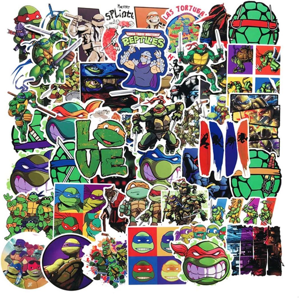 SEBADA 50Pcs Teenage Mutant Ninja Turtles Stickers for Laptop Motorcycle Bicycle Skateboard Luggage Decal Graffiti Patches[No-Duplicate Sticker Pack] HWJ