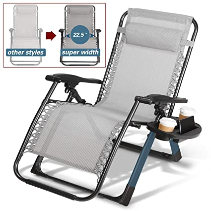 Folding Lawn Chairs Heavy Duty.Artist Hand 350lbs Capacity Zero Gravity Heavy Duty Outdoor Folding Lounge Chairs W Snack Tray Lawn Patio Reclining Chairs Xl Size Extra Wide Seats