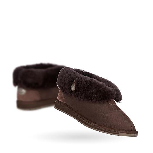 EMU Australia Womens Slippers Platinum Albany Sheepskin Slipper in Chocolate B07263NS9W
