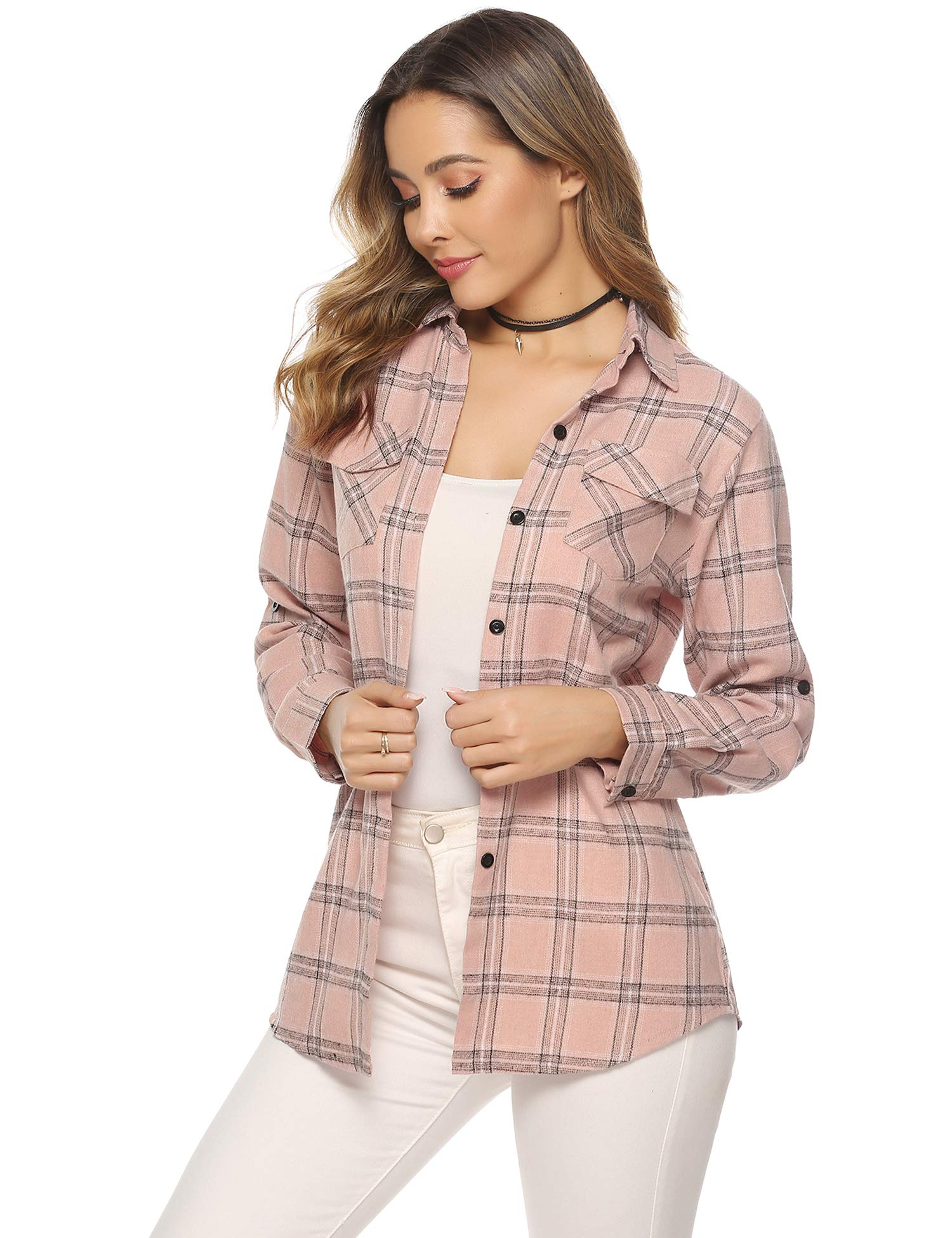 Women's plaid shirts