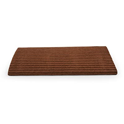 "Camco 42955 RV Step Rug ( Premium Wrap Around Double Ribbed , 100% Polyester (18"" x 23"") - Brown): Automotive"