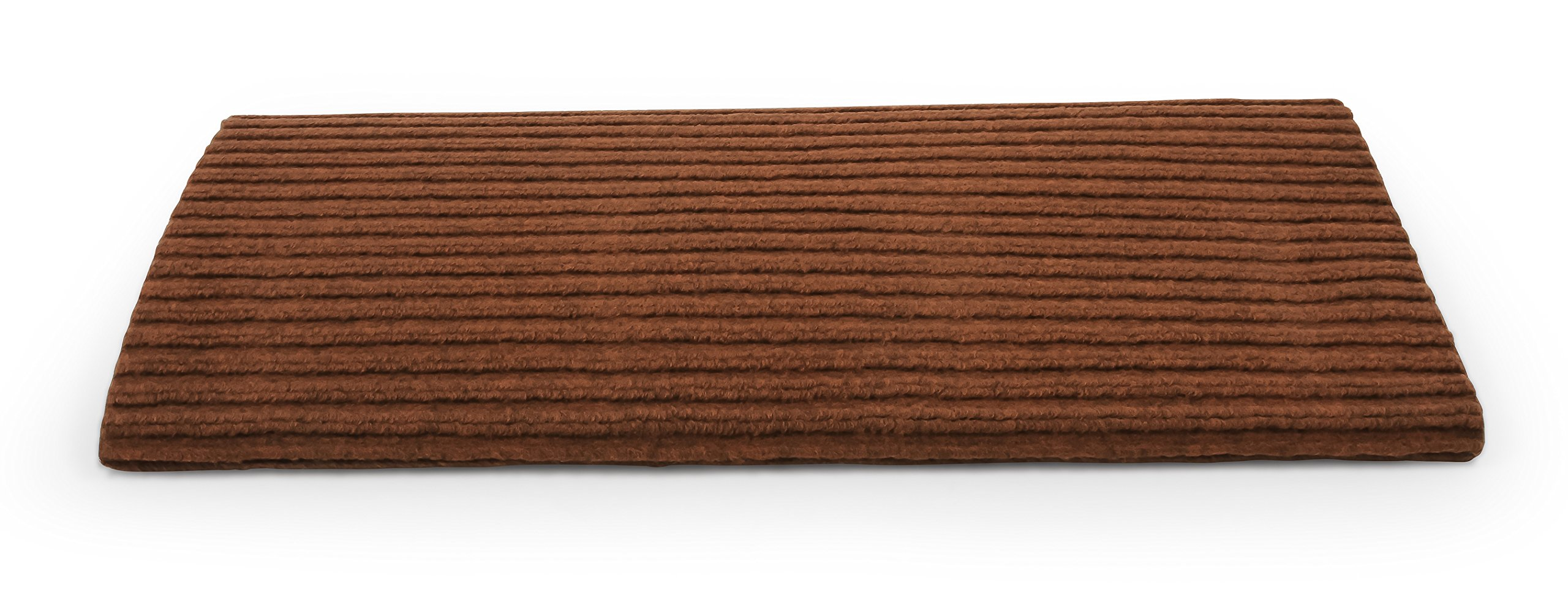 Camco 42955 RV Step Rug ( Premium Wrap Around Double Ribbed , 100% Polyester (18'' x 23'') - Brown)