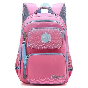 184ef83c966 Amazon.com   Forestfish Children Backpack Daypack Kids Bookbag Multipurpose  School Bag for Elementary or Middle School Boys and Girls Gift (Pink)   ...