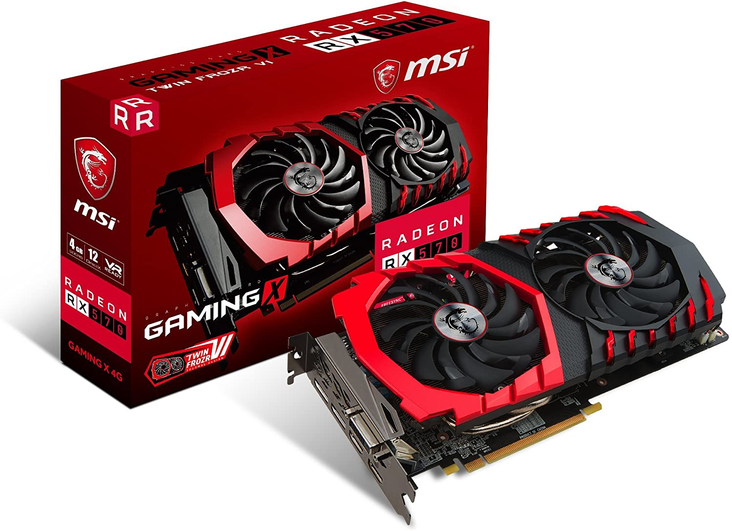 MSI Gaming Radeon RX 570 256-bit 4GB GDRR5 DirectX 12 VR Ready CFX Graphcis Card (RX 570 GAMING X 4G)