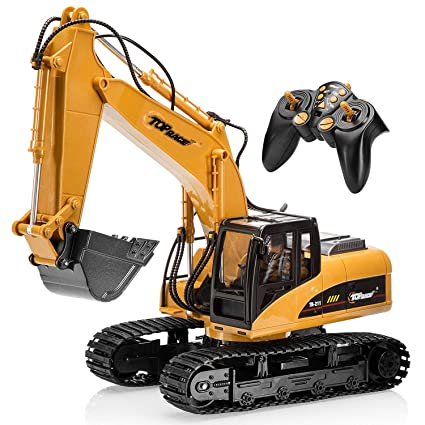 Buy Top Race TR-211 15 Channel RC Excavator Metal Toy with