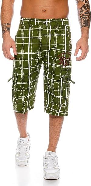 TALLA 3XL. Raff&Taff Bermudas para hombre, pantalones cortos de deporte y ocio, hasta 4XL