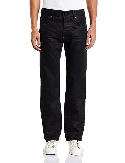G-Star Mens Attacc Straight Fit Jeans - Blue (Medium Aged 7062-071), 30W x 36L G-Star