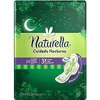 Naturella Cuidado Nocturno Toalla femenina con alas 24 piezas
