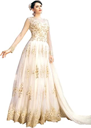 Exotic India Ivory Wedding Floor Length Sui Off White At Amazon