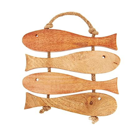 Decorative Fish Wooden Trivets For Kitchen Dining Table Accessories Amazoncouk Home